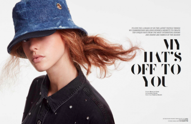 Top Hats! Check out our denim fabrics & fashion shoot