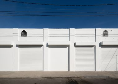 Exterior of Dover Street Market in Los Angeles