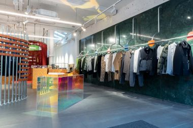 Danish brand Wood Wood opened its first London store on Brewer street in Soho. The conceptual space stocks brands from Comme Des Garcons to Shrimps and everything in between. Long-time collaborators Spacon & X helped to conceptualize and design the space.