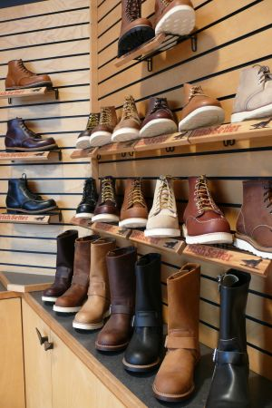 A selection of Red Wing shoes