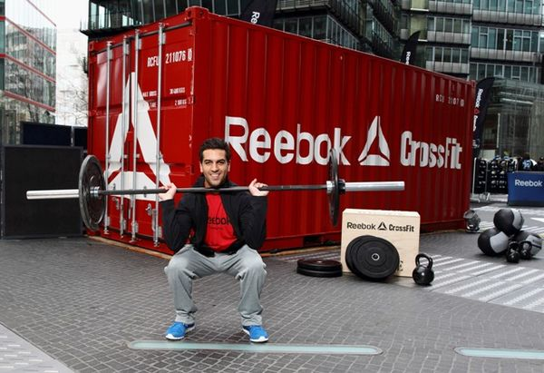Actor Elyas M'Barek tried out CrossFit at Berlin's Potsdamer Platz