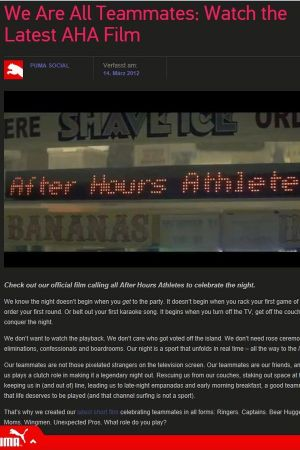 After Hour Athletes Film by Puma (screen shot)