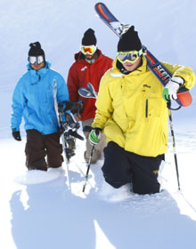 Athletes training for Back to Powder