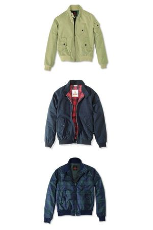 Baracuta G9 from top to bottom: Military G9 Jacket in herringbone cotton (Designer Collection by Kenichi Kusano) - G9 Made in UK - Black Watch G9 (Designer Collection by Kenichi Kusano)