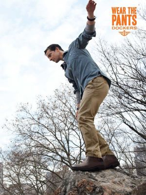 Bear Grylls Wears the Alpha Khaki in the Dockers 2012 'Wear The Pants' Ad Campaign