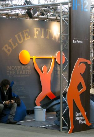 Blue Fitness relax area by Meidea, Bossa, ItacLab
