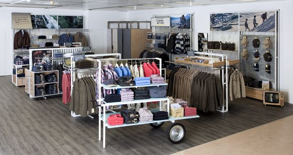 Camel Active's shopfitting concept Roadside
