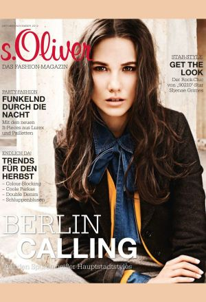 Cover of s.Oliver's first fashion magazine