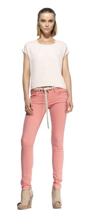 Debuting for s/s 2013, this new slim fit jeans capsule collection for women enhances its wearer's silhouette with a push-up effect.