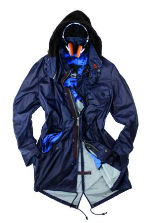 Denham Advisor parka with Frend headphone