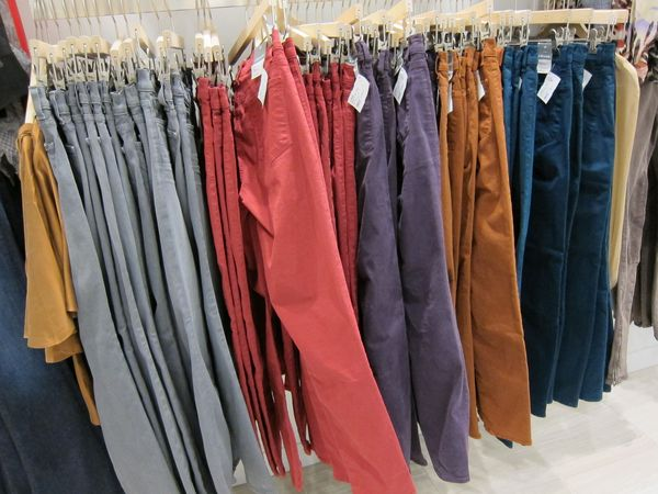 Denim Habit's colored denim selection