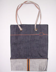 Denim bag by Legler