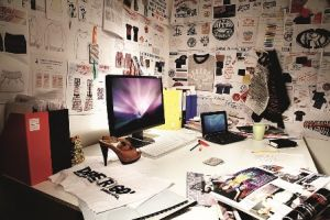 Designer's work place at Devergo in Budapest