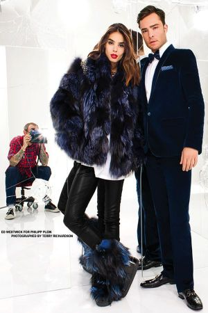 Ed Westwick and Sabrina Nait for Phillip Plein