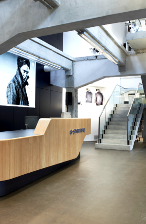 Entrance of the new G-Star showroom Düsseldorf