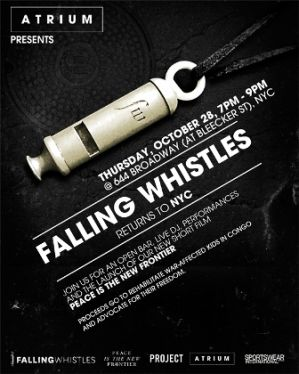 Falling Whistles event featured by Atrium
