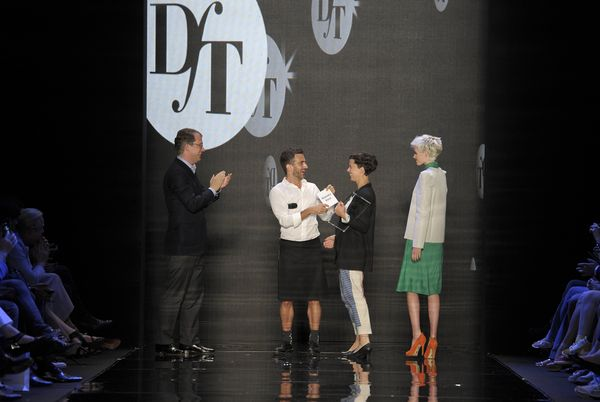 From left to right: P&C's Dr. Adrian Kiehn, Marc Jacobs, Alexandra Kiesel and model