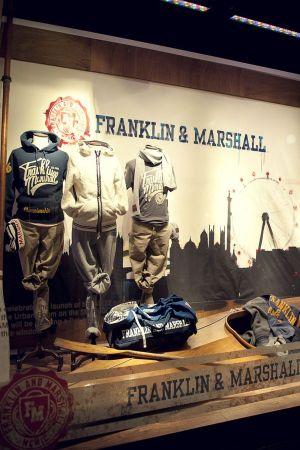 Franklin&Marshall staged its first Live Art Window at Harrods