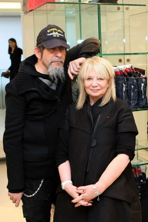 François and Marithé Girbaud in the new store in Stuttgart