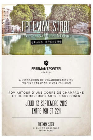 Freeman T. Porter opens store in Paris