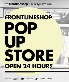 Frontline pop-up store poster