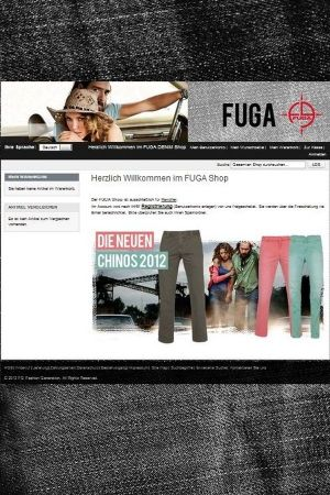 Fuga B2B web portal (screen shot)