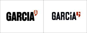 Garcia: old vs new logo (left to right)