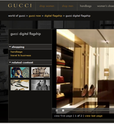 Gucci's digital flagship store