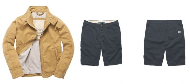 Harrington jacket and shorts of the Commodity Range