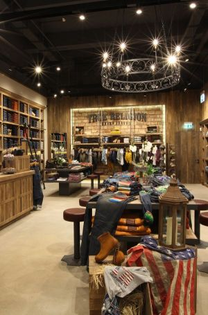 Interior view inside True Religion's new store in CentrO