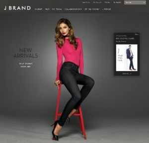 J Brand's relaunched website