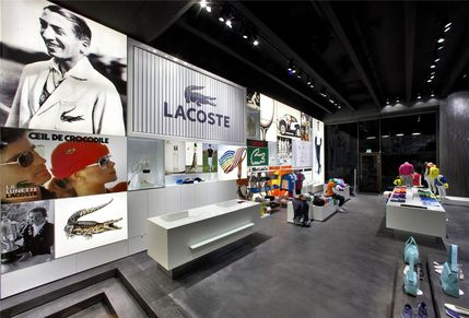 Lacoste flagship store in Hamburg