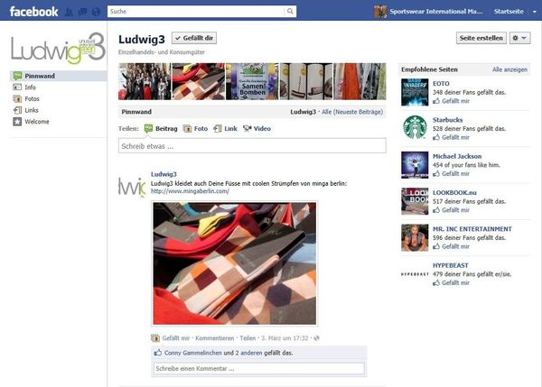 Ludwig3 is not selling online, but runs a website and a facebook page to stay in touch with customers and keeping them informed.