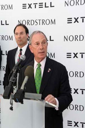 Mayor Bloomberg speaking at Nordstrom press-conference