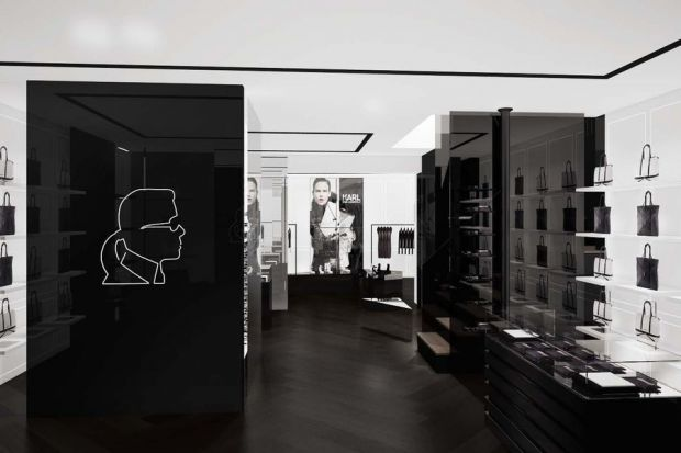 Outlook on the new Karl Lagerfeld flagship in Paris