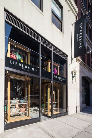 Outside the new Liebeskind store in New York