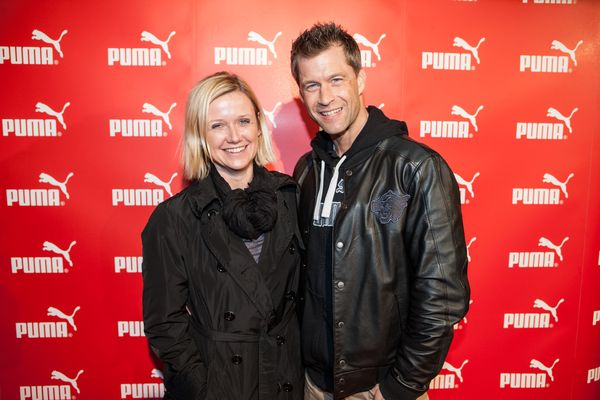 Pia Madison, Senior Head of Marketing & PR Germany, PUMA fitness trainer Arno Schmitt