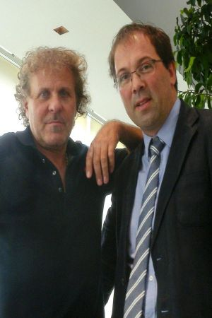 Renzo Rosso with Marco Santori, president of the Etimos Foundation