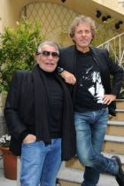 Roberto Cavalli and Renzo Rosso at Just Cavalli's press conference in Milan
