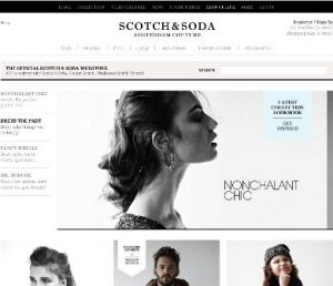 Scotch & Soda's relaunched web shop