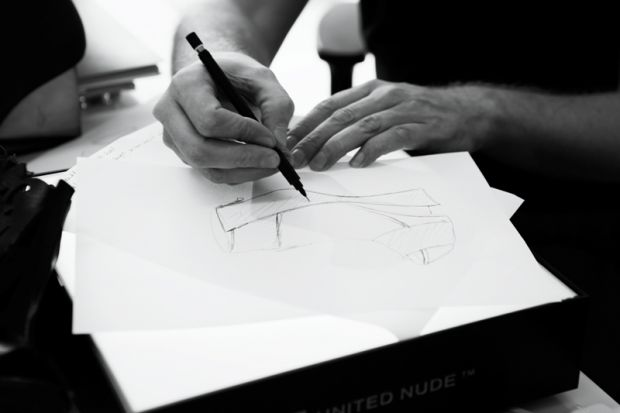 Sketch of the shoe by Masha Ma and United Nude