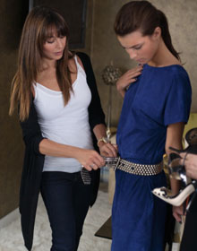 Tamara Mellon and model in Jimmy Choo for H&M