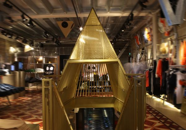 The London shop spreads over two floors and covers approximately 330sqm