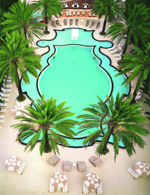 The Raleigh Hotel's infamous pool on Miami's South Beach