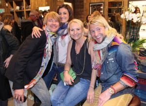 The True Religion Brand Jeans Sales team at the opening party