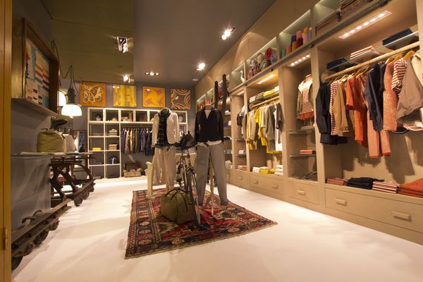 The new concept store offers all Woolrich-related brands and labels.