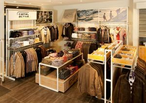"The 101 sqm store is the very first Camel Active store that follows the new ""Roadside"" look."