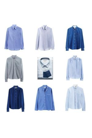 To coincide with Snowdon Blue, Acne has designed a limited edition of blue shirts.