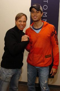 Tommy Hilfiger and Enrique Iglesias