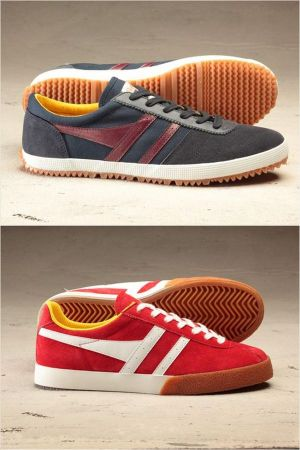 Top: Gola Legends Badminton, navy burgundy; Bottom: Gola Legends Squash red white